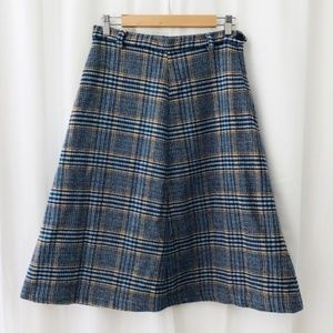 Vintage Hunter Sportswear glen plaid A-line skirt